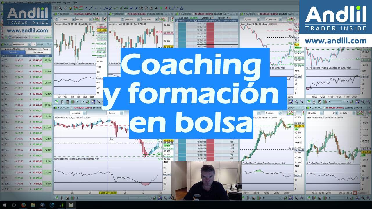 Coaching y formación en bolsa